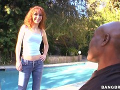 Redhead skinny milf always used a TV remote to fuck her pussy dreaming about huge dick