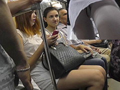Nice upskirt videos filmed in the local subway