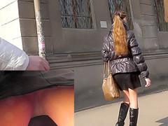 Real upskirt pantyhose clip filmed in the public bus