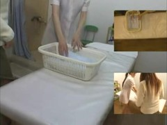 Voyeur massage video with Japanese bimbo