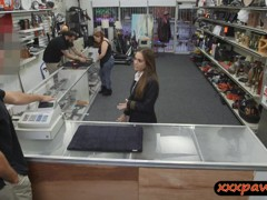 Sexy latina stewardess fucked by pawn man to earn money