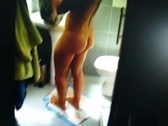 Hidden cam My wife was surprised naked in the bathroom