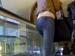 Candid - Babe In Tight Jeans With A Great Ass