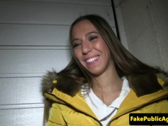 Euro girlnextdoor fucked by a stranger in public