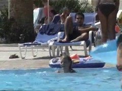 Hidden cam in a swimming pool