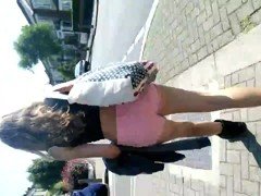 Londonperv's Candids 2014 - Teen in Tight Pink Shorts
