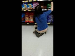 Sexy Ass Crack on Wal-Mart Clerk