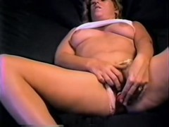 This Playgirl masturbates with the assist of sex toy