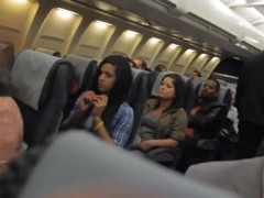 Risky Voyeur Cam Flashing in the Airplane