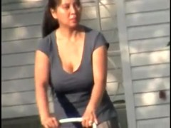 Candid Huge Tits Asian Mom