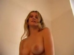 Golden-Haired busty solo masturbation