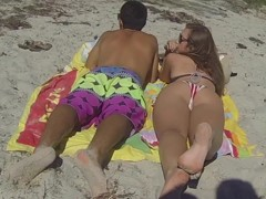Hot beach girls showing lots of skin summer 2014