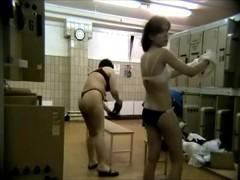 A hidden camara in the women's locker room,