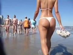 Nice Ass Walking on the Beach
