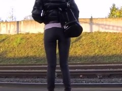Candid - Teen Ass In Tight Pants At The Train Station