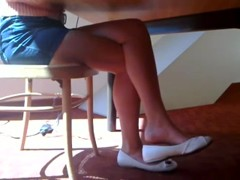 Candid Beautiful Blonde Shoeplay Dangling Feet and Legs Pt 1