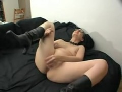 mature sabine masturbating alone