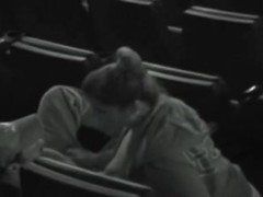amateur couple in movie theater 2 getting horny