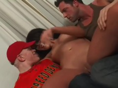British slut Megan gets fucked in her flat