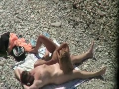 Voyeur caught couple fucking at the beach