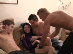 Elizabeth & Kamila & Marya & Sabina Gruda & Tanata in sexy chick gets fucked in a real college sex v