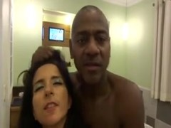 Brazilian Cuckold Wife Engulf BBC Front of Hubby