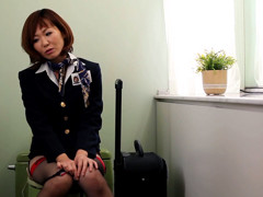 Horny Flight Attendants Bathroom Break