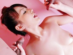 Best Japanese girl Asuka Ayanami in Crazy JAV uncensored Threesomes video