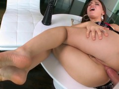 Gabriella loves dick in the ass and cum in her mouth