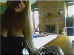 Breathtaking blonde mature I'd like to fuck being lewd on web camera when people are in school