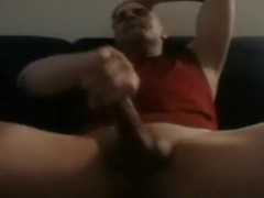 Masturbation with jizz flow