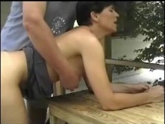 Older woman with priceless hanging pointer GFs acquires drilled and sucks in the garden