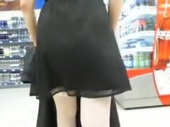 White Nylons Upskirt Episode In Public Supermarket