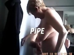 ravishing granny blowing her ally in the washroom