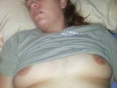This is the third video of this dirty slut. I just couldn't help but to get her on film.