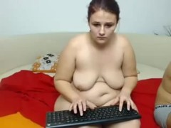 Getting a hot amateur blowjob in front of a webcam