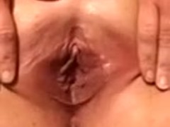 Stuffed that shaved dirty cleft with a tiny fake strapon and filmed what happens