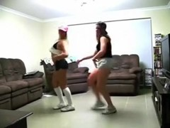 Insanely lascivious Australian cuties dance for me on web camera