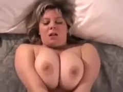 Busty and chubby blonde mother i'd like to fuck wife nude in the bedroom