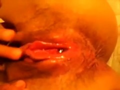 I will show you how my wife fingers her juicy shaved pussy