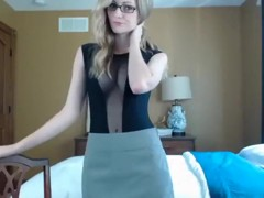 Hawt golden-haired fake 10-Pounder oral-service stimulation-job stimulation-sex skills