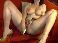 Lascivious Mother I'd Like To Fuck with Large Titties Masturbates