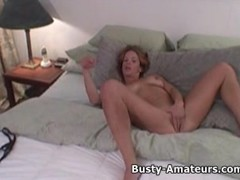 Busty amateur Gabriella on solo masturbation