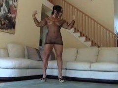 Athletic mother I'd like to fuck does squats on his rod til that guy cum