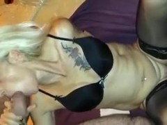Awesome cuckold older bitch