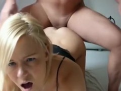 Super hot blonde tries anal sex with pussy cumshot