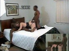 Wild cuckold milf has a threesome with 2 black guys