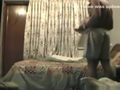 Arab couple has sex in a motelroom