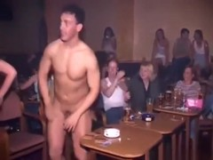 Female bachelor party goes crazy. these bitches are sucking the stripper's cock !!!
