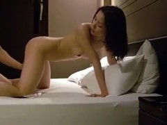 Cute petite asian girl fucks her bf in various positions on the bed